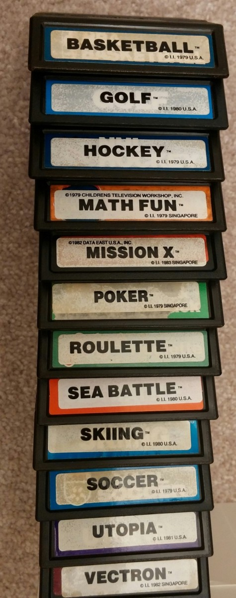 Intellivision Inc double labeled carts (Jan 2017)