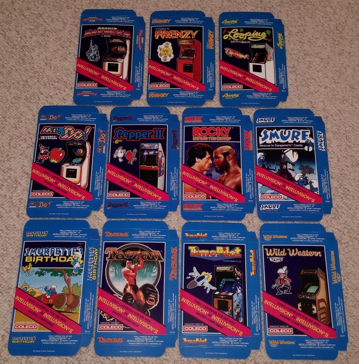 Coleco boxes from Marc