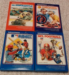 Mattel Intellivision Early Boxes (fronts)