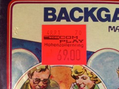 Price tag on Backgammon