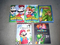 Mario and Zelda cartoon DVD sets