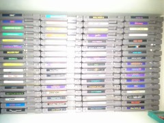 The NES library of games.
