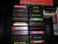 Atari 2600 carts in the game center