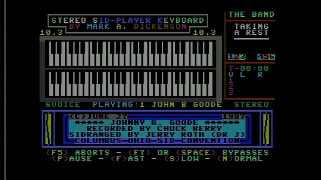 "Dr. J5's ""Johnny B. Goode"" in Stereo SID Player"