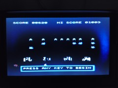 TI Invaders demo high score after 12 hours