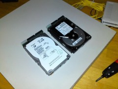 Old SCSI drives are noisy