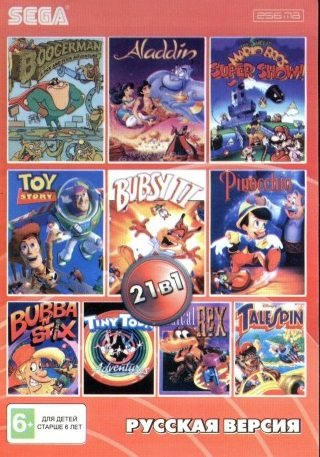 21 in 1 pack, Bubsy 2 (Mega Drive, Russia)