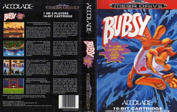 Bubsy 1 (Mega Drive, second version)