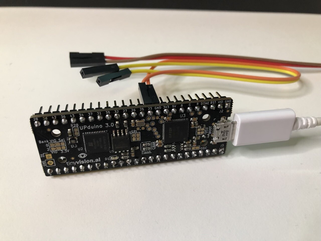 UPduino V3 board with TMS9900 core