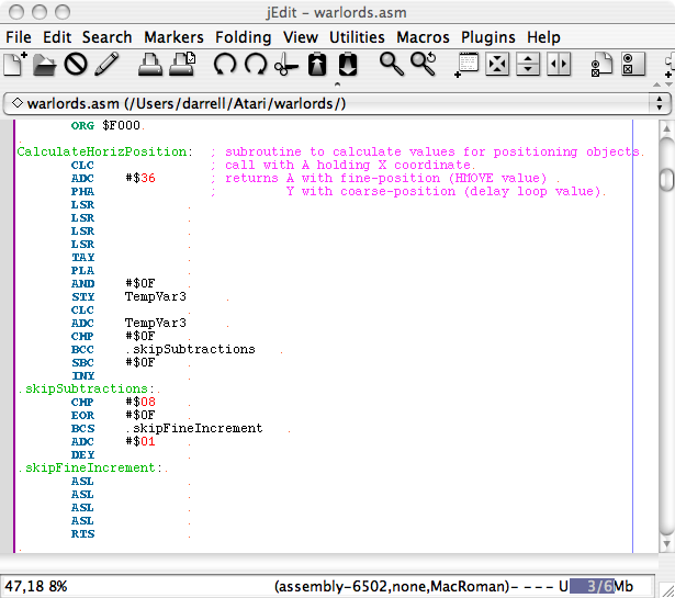 jEdit for IDE? - AtariAge Forums