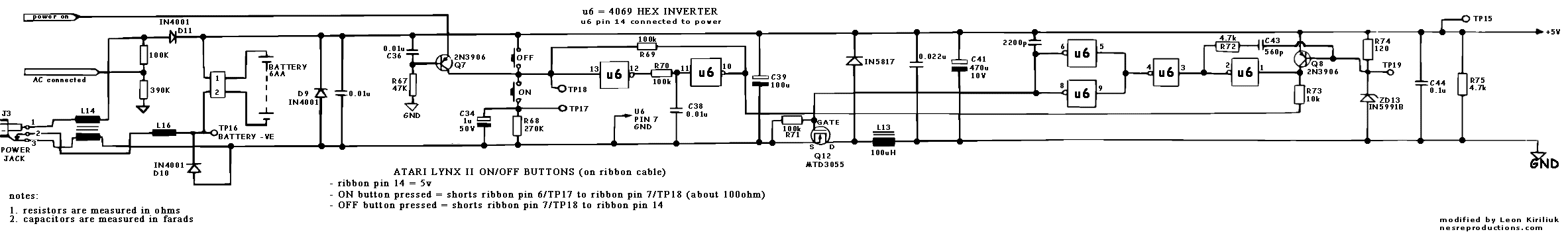 Atari Lynx II schematics for power .. - Atari Lynx - AtariAge Forums
