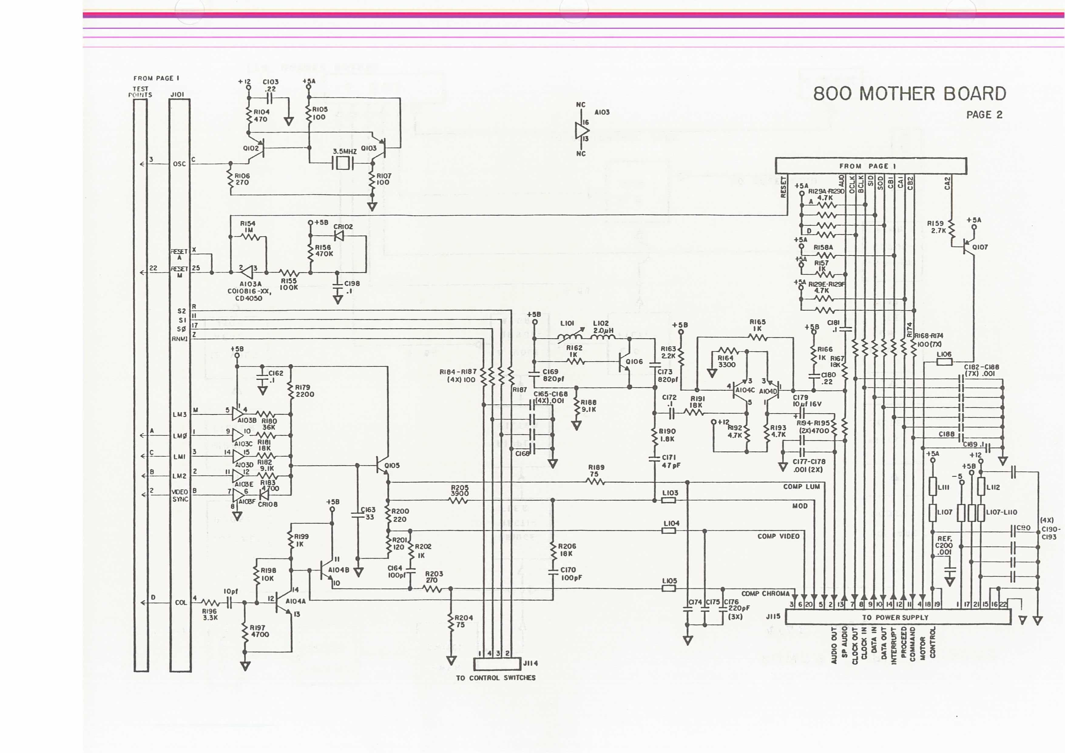 Atari 2600 Wiring Diagram Trusted Diagrams Flashback Schematics U2022 7