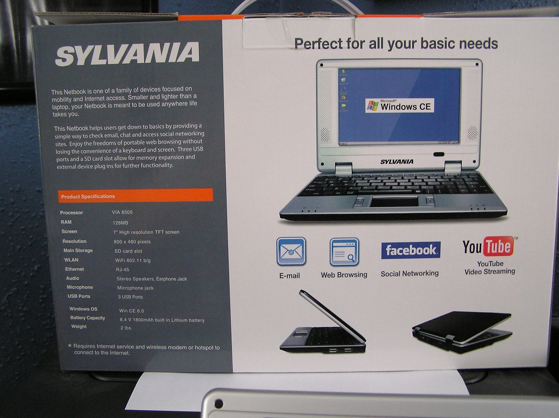 sylvania netbook synet 07526 manual