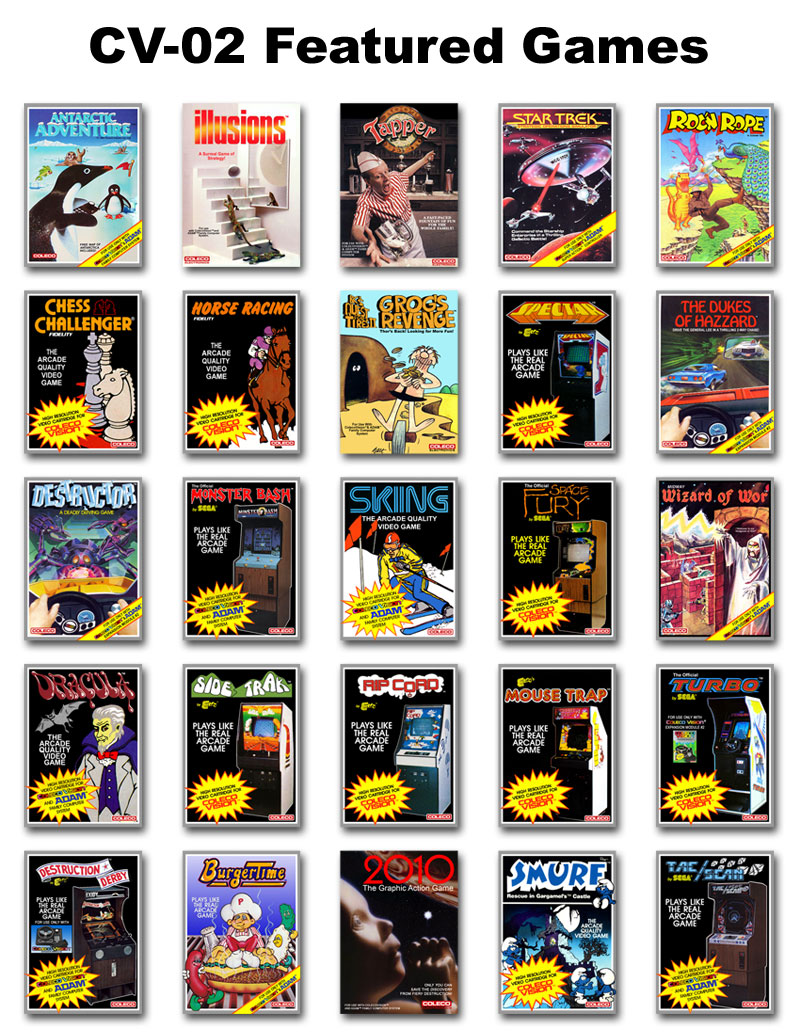colecovision trading cards cv-02 - colecovision    adam