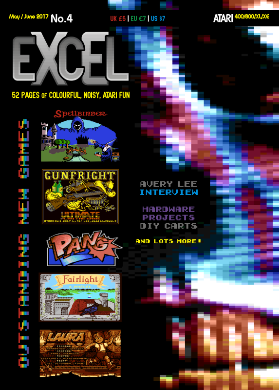 excel magazine 4 is now shipping atari 8 bit computers atariage