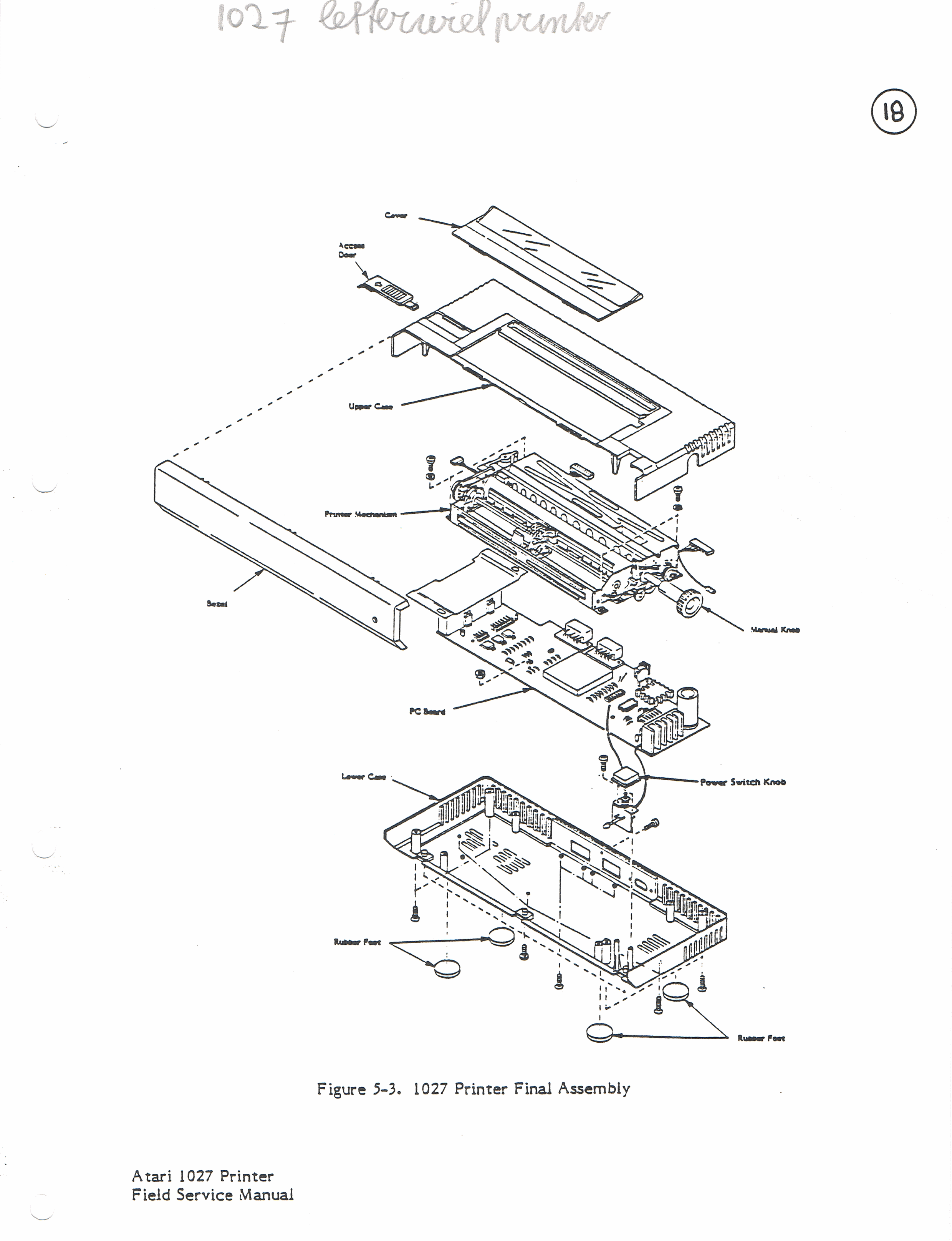 who has the 1027 printer service manual or schematics  - atari 8-bit computers