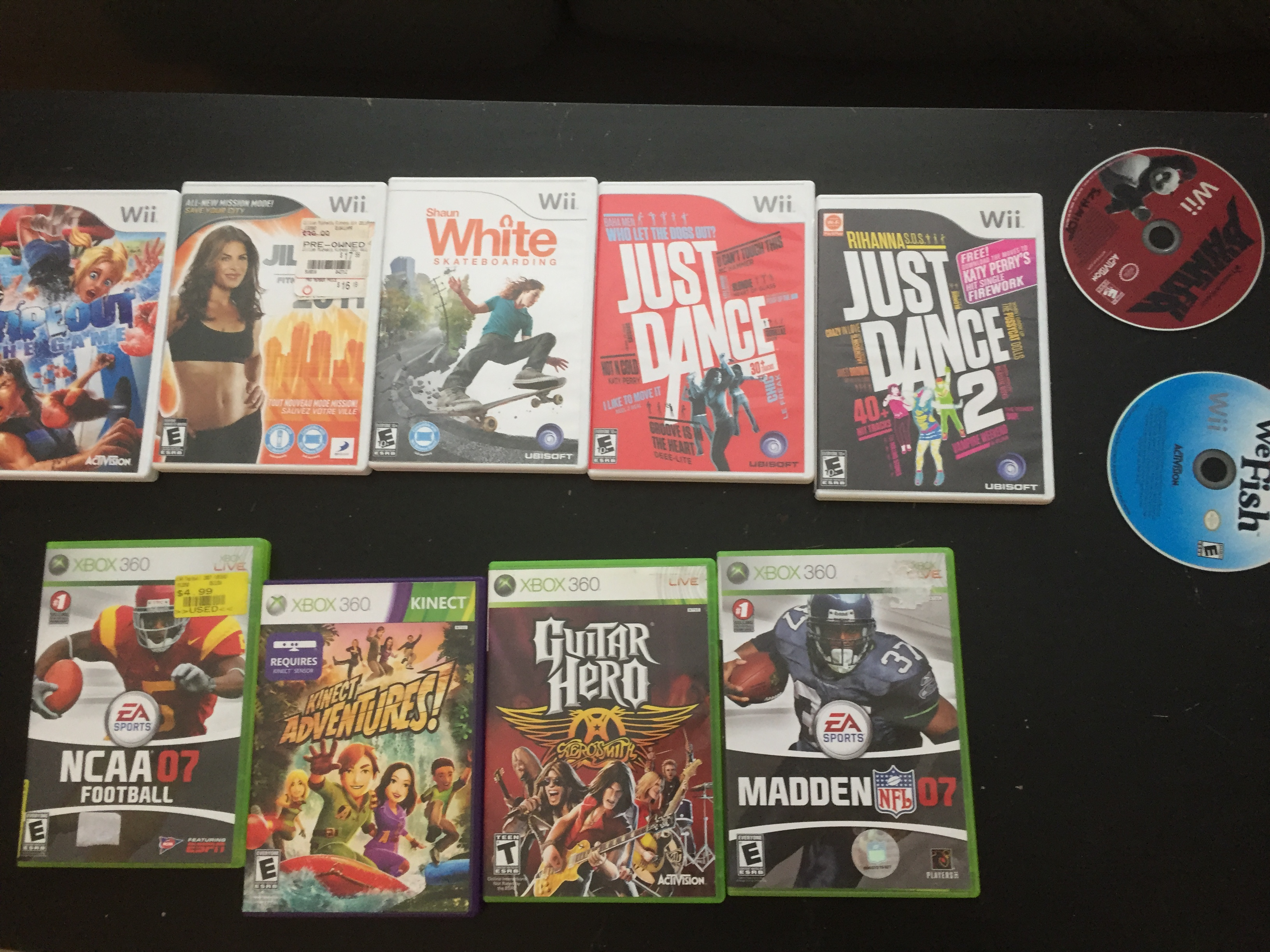 Ps3 Ps2 Ps1 Xbox 360 Xbox Wii 45 Games All 1 00 Each Buy