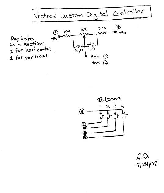 Vectrex Controller Wiring Diagram