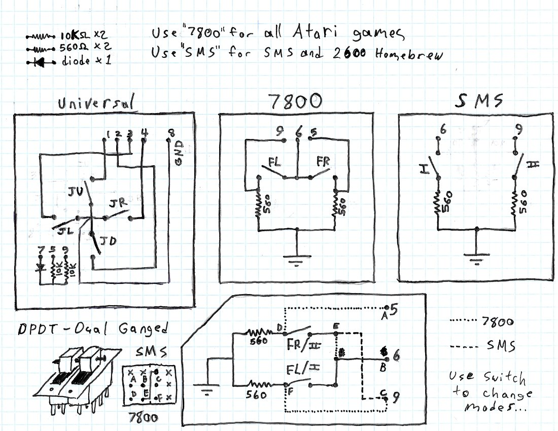 Joystick Wiring Diagram Another Blog About Electrical Simulator Atari 7800 Diagrams 35 Fisher