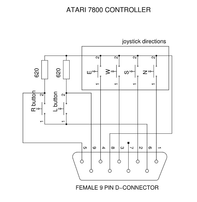 Atari 7800 Controller Wiring Diagram - 15.10.kenmo-lp.de • on intellivision controller, steam controller, 3do controller, neo geo controller, atari 800 xl controller, playstation 4 controller, sega cd controller, turbografx-16 controller, snes controller, 32x controller, gamecube controller, sega dreamcast controller, atari 7800 controller, xbox controller, sega genesis controller, atari lynx, atari 400 controller, sega saturn controller, sega master system controller, playstation 1 controller,