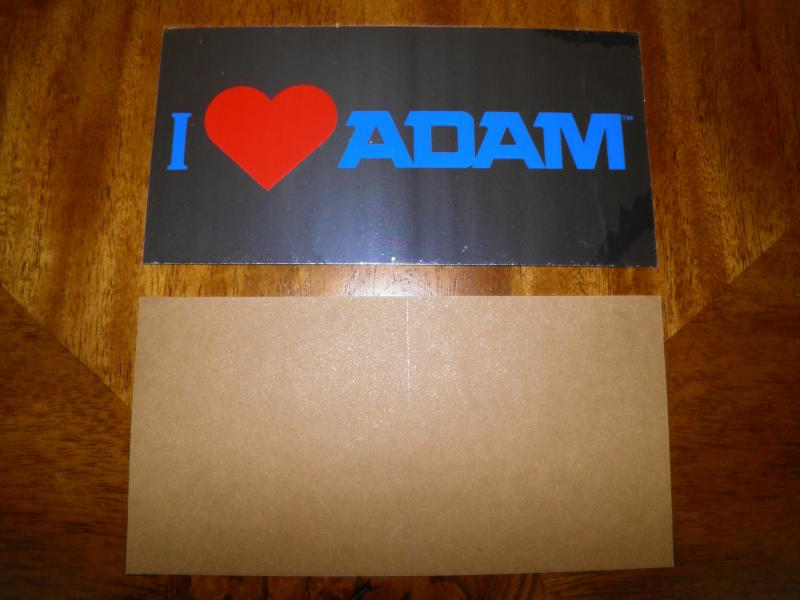 Coleco I Love ADAM stickers PIC3.JPG