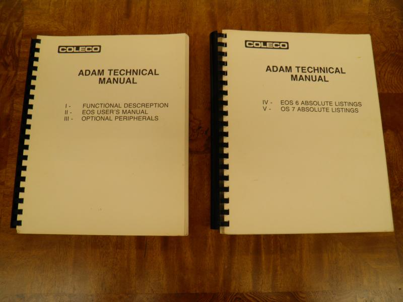 Picture of Coleco technical manuals.JPG