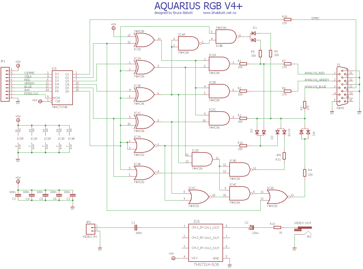 Aquarius Rgb Interface With Pixel Correction Intellivision Pinout Further Scart To Vga Cable Diagram In Addition Wiring Attached Thumbnails
