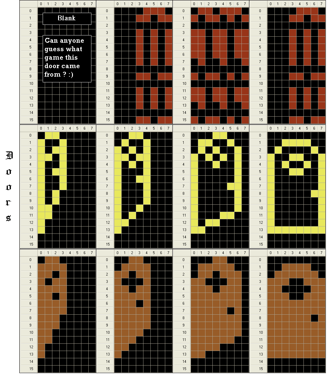 Door Sprites.PNG  sc 1 st  AtariAge & Free sprites for the taking - Page 4 - batari Basic - AtariAge Forums