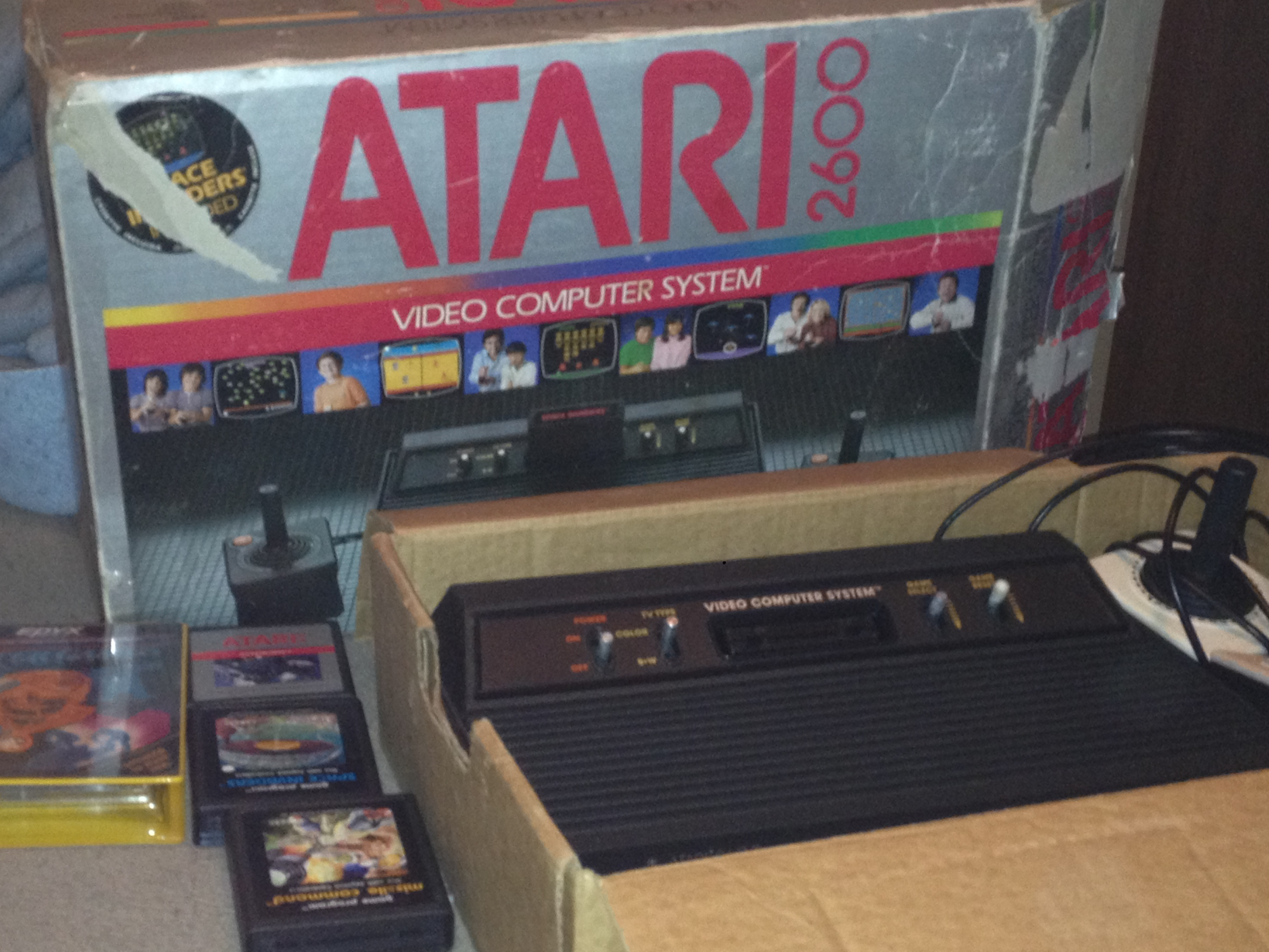 Atari 2600 In Box With A Few Games Questions