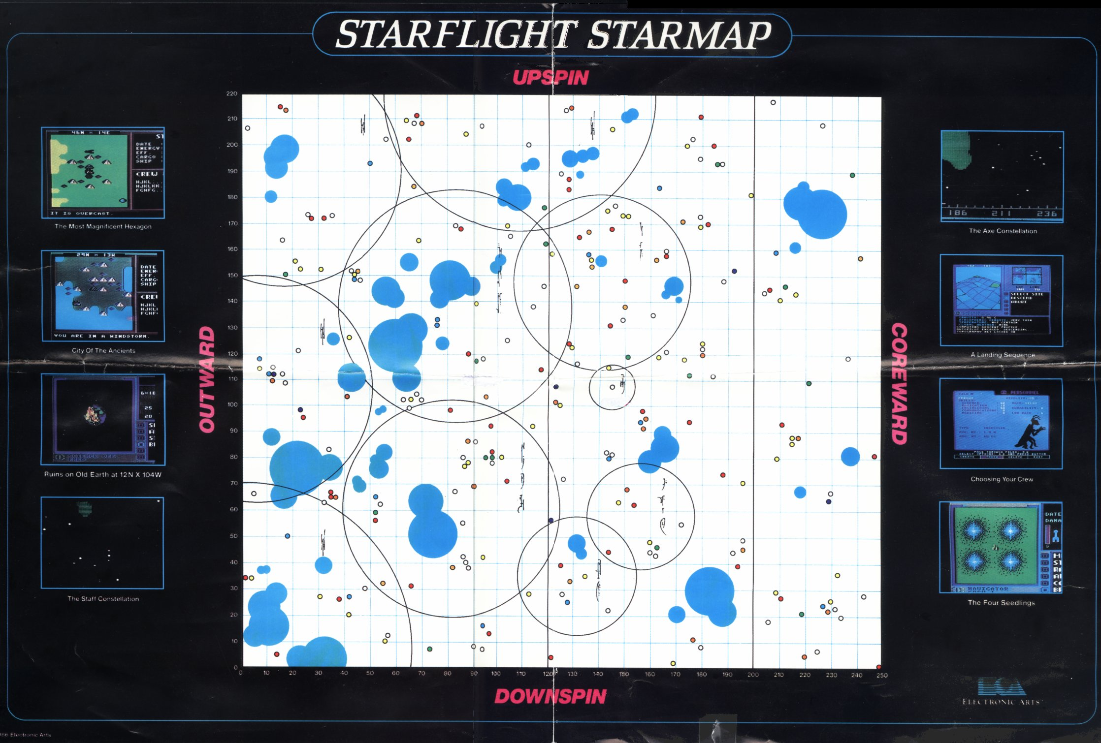 Starflight Map For Genesis Classic Gaming General