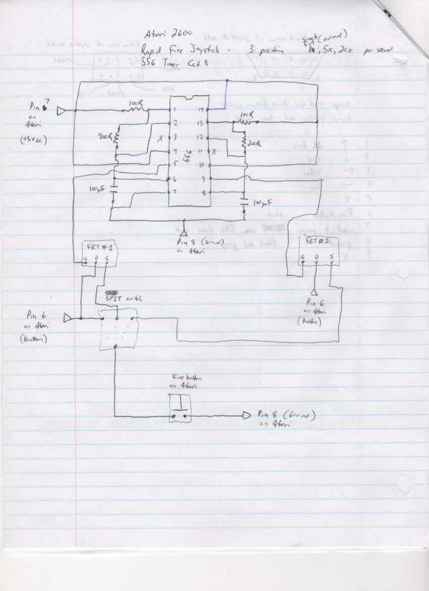 3 speed turbo fire joystick schematic