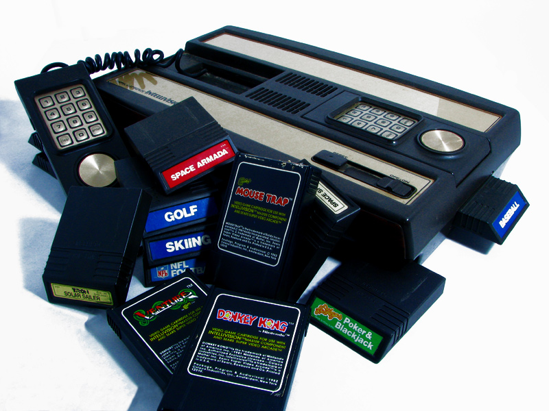 Intellivision I with Games by Seyser Deviantart.jpg