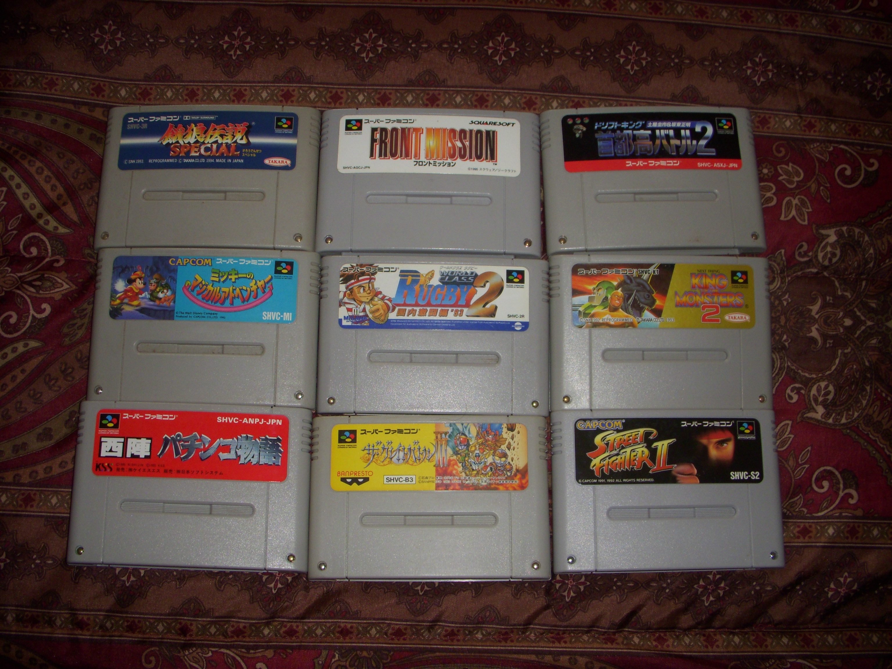 for sale japanese super famicom games5eachmany more