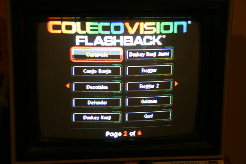 ColecoVision Flashback with alternate games