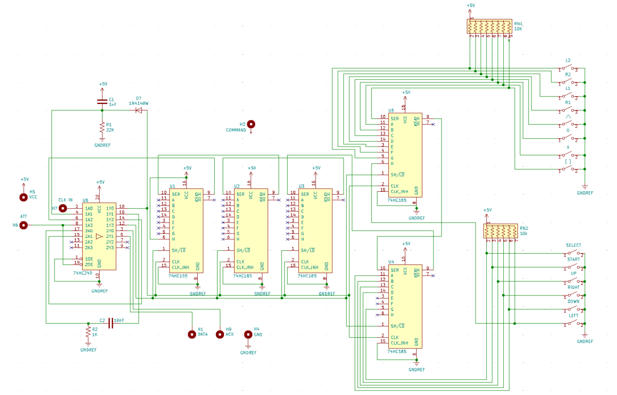 PlayStation 1 (PSX) Controller Schematic - Help Needed - Hardware -  AtariAge Forums | Ps1 Joystick Wiring Diagram |  | AtariAge