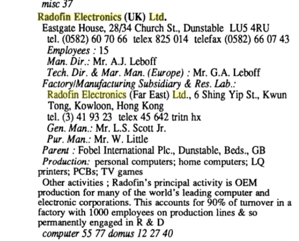 90s Directory to European Manufacturers - Radofin.png