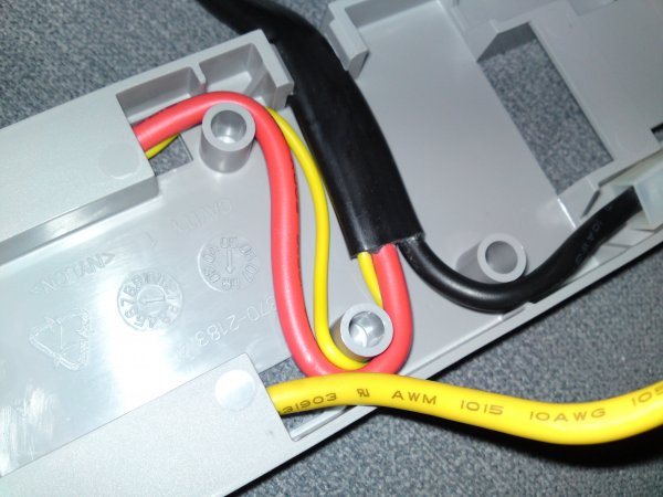870-2183 harness positive battery terminal with yellow sense wire attached