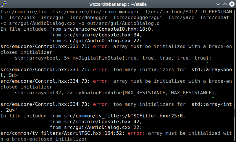 Array Must Be Initialized With A Brace Enclosed Initializer