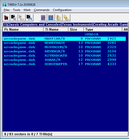 1367251153_Computes_Creating_Arcade_Games_on_the_TI-99-4a_(Seth_McEvoy)(1984)_Disk_Contents.png.710d0097bbe2fea9cd0d3e8ef014f54f.png