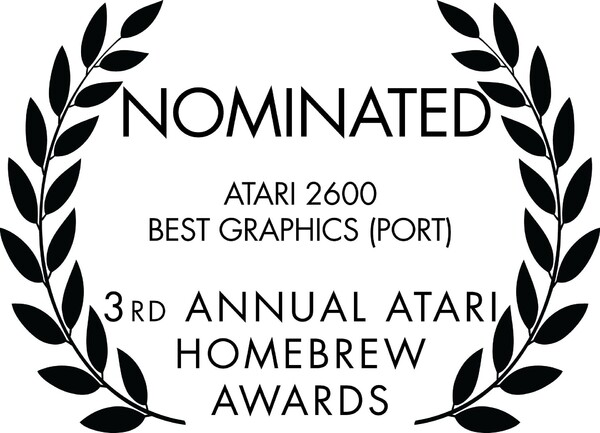 3rd Annual Atari Homebrew Awards (2020)-Nominated Laurels-Atari 2600 Best Graphics (Port).jpg