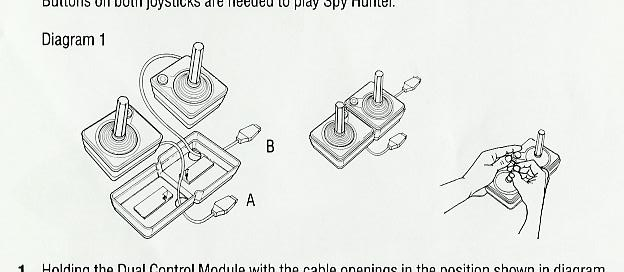 did spy hunter come with some weird  u0026quot controller holder