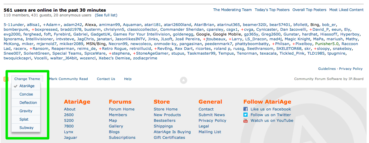 Forum Themes Added - Announcements - AtariAge Forums