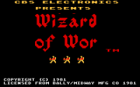 Wizard of Wor - Screenshot