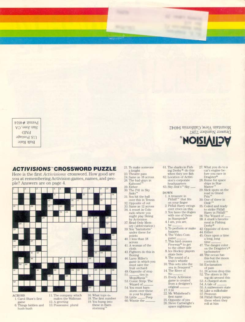 Atariage Atariage Magazine Archive Activisions Newsletter